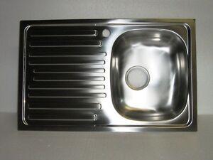 Lavello per cucina inox incasso 1 vascchetta a destra completo di ...