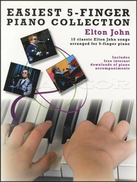 Easiest 5-Finger Piano Collection Elton John Sheet Music Book Your Song Believe