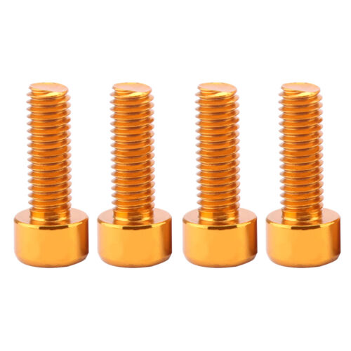 8Pcs Aluminum Alloy Bike Water Bottle Cage Bolts Holder Screws Black /& Gold
