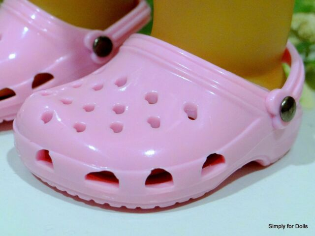 """**SALE** PINK Ducs Krocs DOLL SANDALS SHOES fits 18"""" AMERICAN GIRL Doll Clothes"""