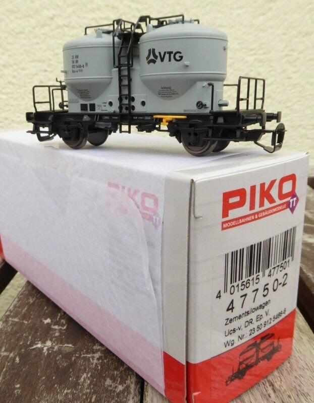 PIKO 47750-2 TT Wagon Silo Cement UCS-V Der Dr Era 4 Regulator Vtg, New