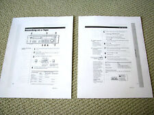 Sony PCM-R500 / PCM-R700 professional grade DAT deck owners instruction manual