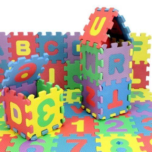 36X Unisex Mini Puzzle Kid Educational Toy Alphabet Letters Numeral Foam MatPTCA