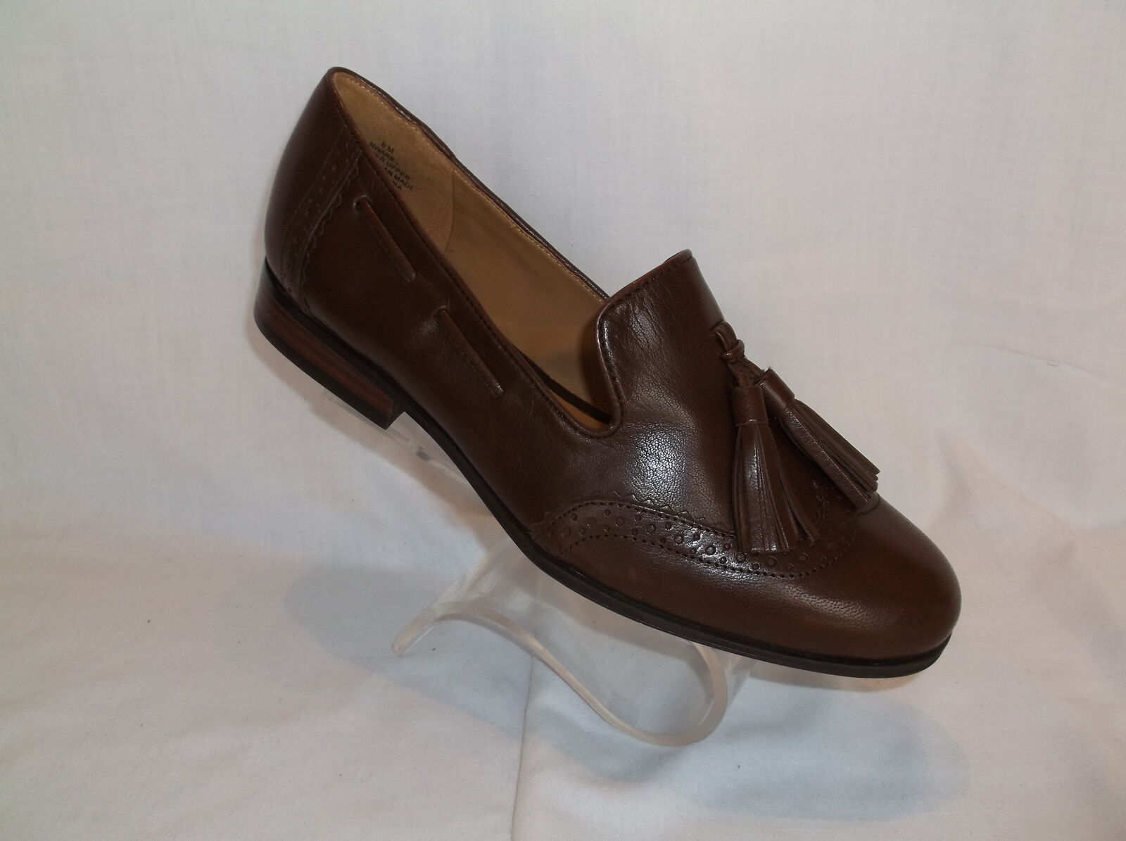 NINE (ARIEL) WEST BROWN  LEATHER LOAFER SIZE 6  NEU IN BOX,