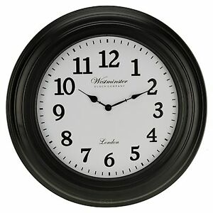 Large-50cm-Westminster-Wall-Clock-Home-Decor-Modern-Round-Number-Time-Display