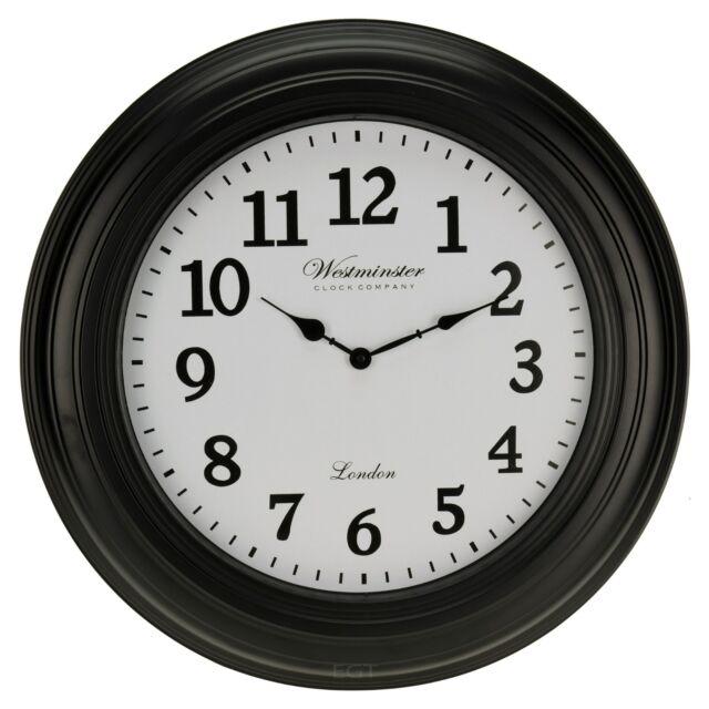 Grand 50cm Westminster Horloge murale décor maison moderne rond numéro temps