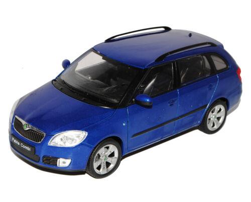Skoda Fabia 2 II combi azul tipo 5j a partir de 2007 1//24 Welly modelo coche con o sin...