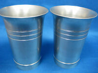 Lot of 2 Antique  German Pewter Cups/Containers Engraved