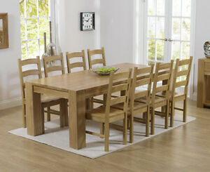 Image Is Loading Rutland Solid Chunky Oak Furniture Large Dining Table