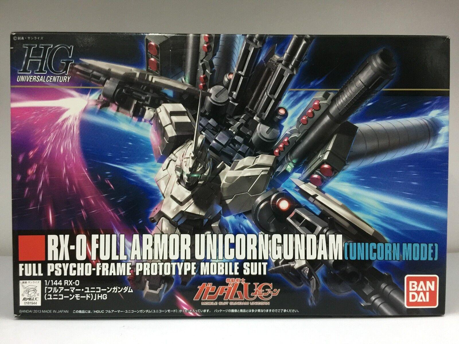 Bandai 0181944 HGUC 156 HG 1 144 RX-0 Full Full Full Armor Unicorn Gundam Unicorn Mode JPN ed2463