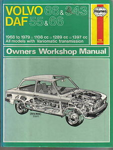 volvo 66 343 daf 55 66 1968 1979 haynes owners workshop manual rh ebay com Volvo 122 68 Volvo
