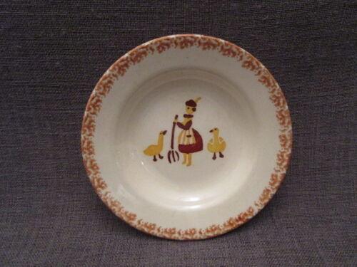 Assiette de dînette art-déco ancienne en faïence