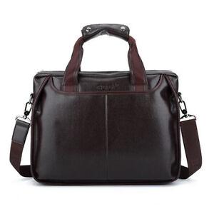 Business-Men-Leather-Handbag-Briefcase-Shoulder-Messenger-Bag-Laptop-Satchel