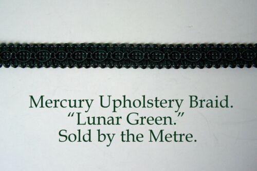 """Verde Botella tapicería Trenza /""""Mercury Lunar Verde/"""" de 15 mm de ancho Venta Por Metros"""