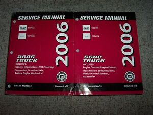 2006 gmc topkick c4500 c5500 c6500 c7500 shop service repair manual rh ebay com 2008 gmc w5500 owners manual GMC TOPKICK