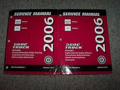 2006 GMC Topkick C4500 C5500 C6500 C7500 Shop Service Repair