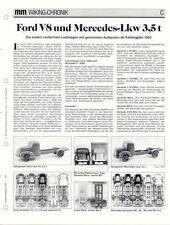 WIKING CHRONIK FORD V 8 und MERCEDES LKW 3,5t ,  von 1991