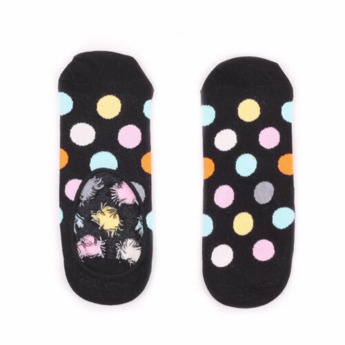 Happy Socks Liner Invisible No Show Big Multi Dots Pattern Men/'s Women/'s Sizes