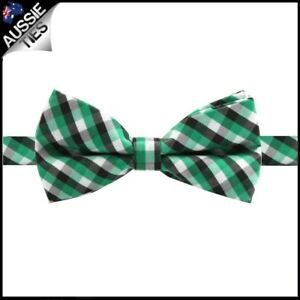 Boys-Green-Black-and-White-Check-Bow-Tie