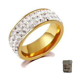 B: 7mm 18,9mm GroßZüGig Original Enez Ring Trauring Ehering Edelstahlring Gold Gr: 9 G