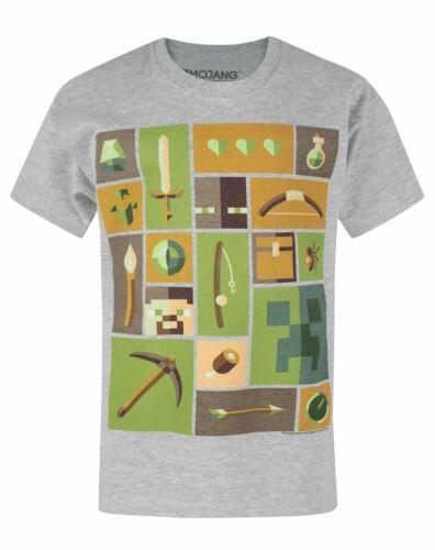 Minecraft Creeper Explorer Grey Short Sleeve Boy/'s T-Shirt