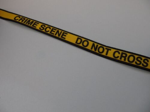 Grosgrain Crime Scene Do Not Cross Ribbon 3//8/""