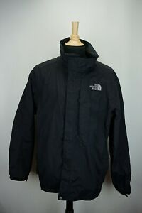 The-North-Face-Hyvent-Solid-Black-Mens-Parka-Jacket-Sz-XL