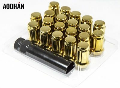 20Pc W// Key Aodhan Xt51 12X1.25 Lug Nut Neo Chrome Fit Infiniti G35 G37 S I35