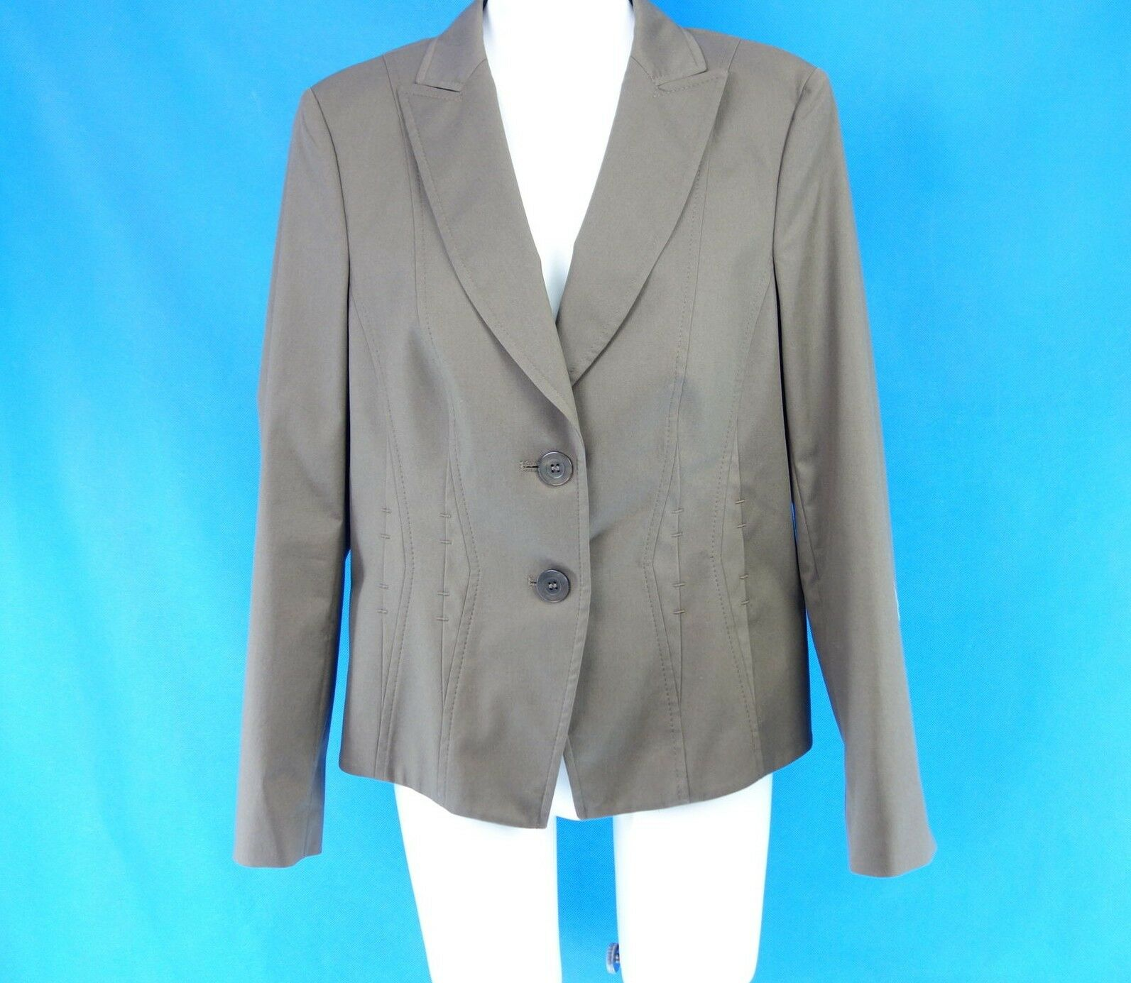 Basler Women's Blazer Rainforest 418054 40 Brown Classic Fitted on Np 199 New