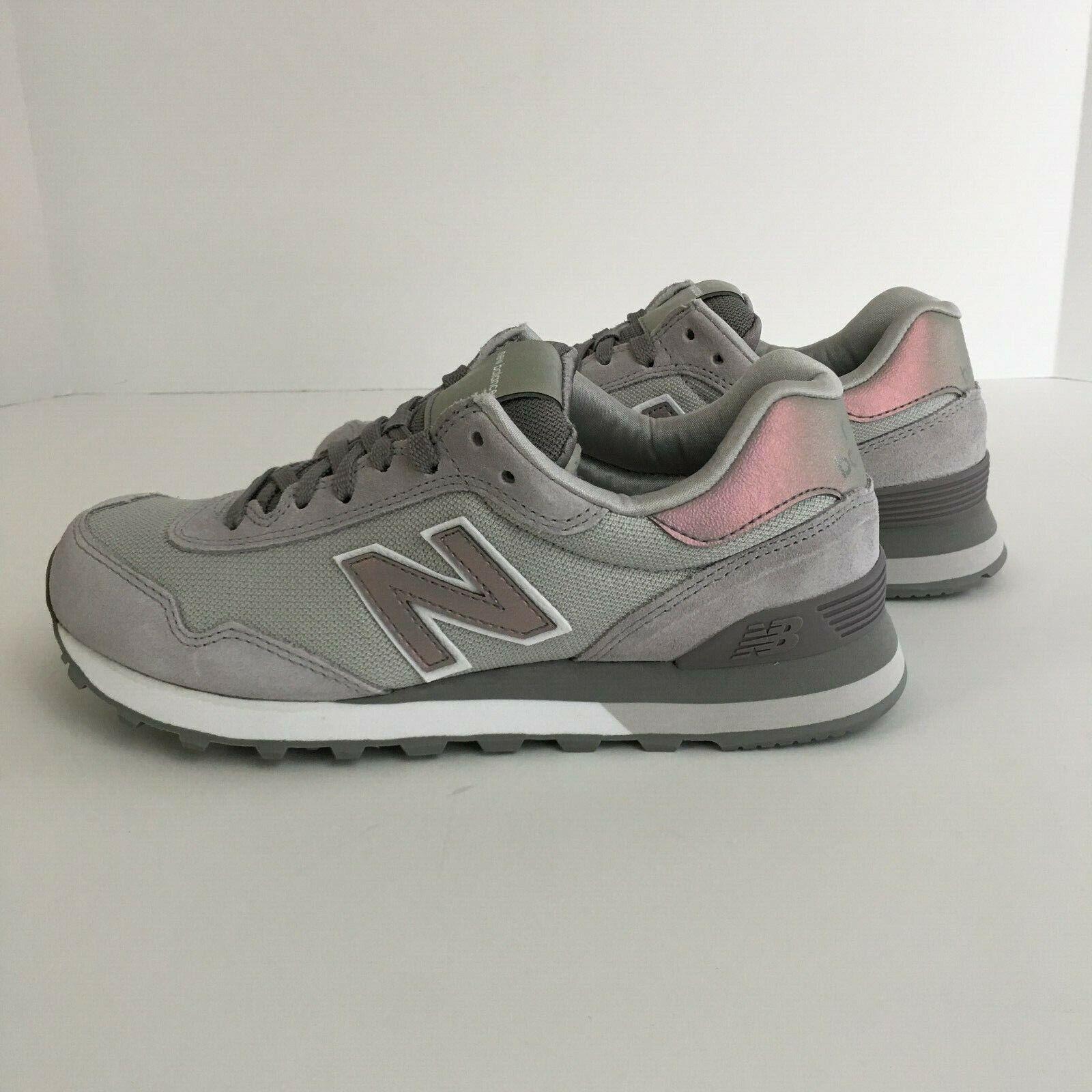 Grey Pink Suede Running Shoe