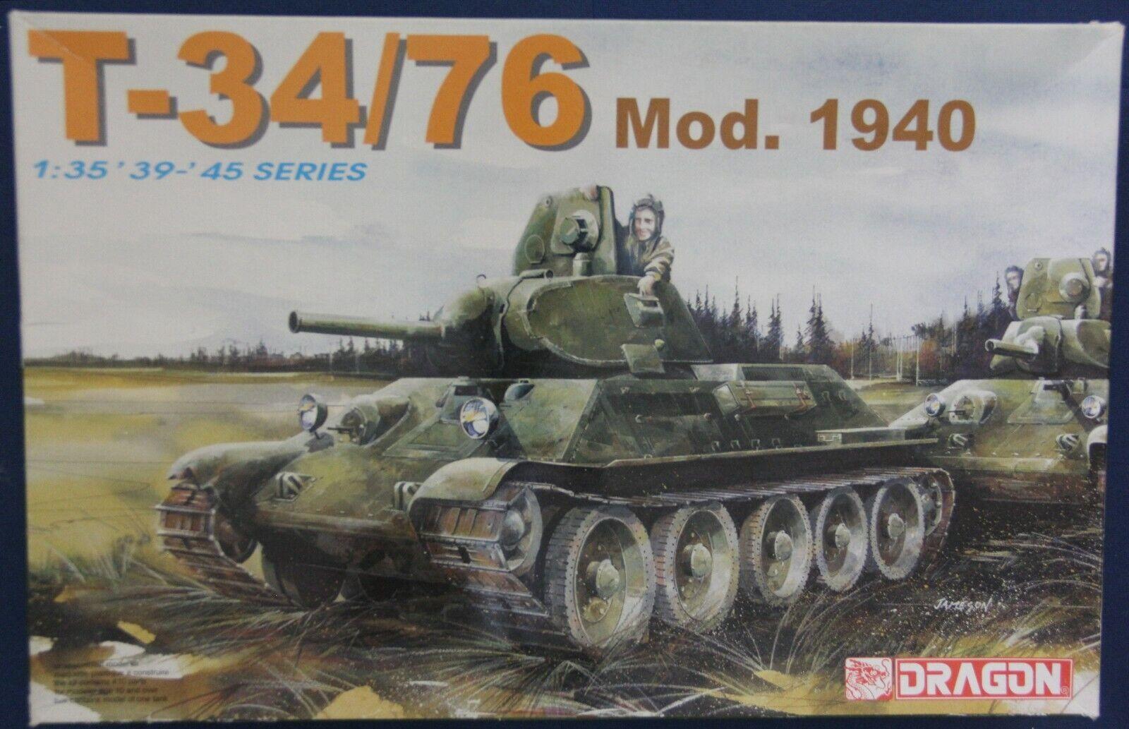 Dragon 6092 1 35 WWII T-34 76 Mod.1940