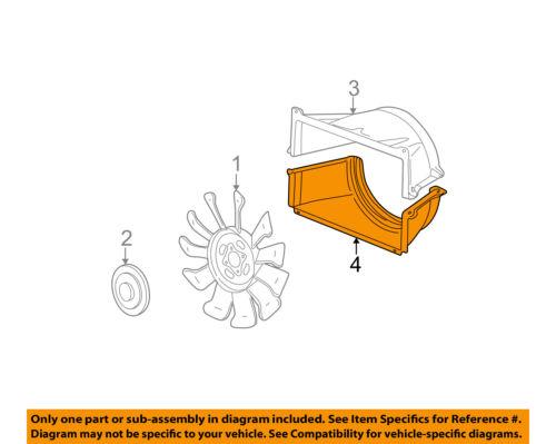GM OEM Cooling Fan-Lower Shroud 15751221