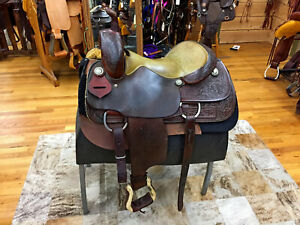 "16"" STAR OF TEXAS WESTERN FLAT SEAT CUTTING SADDLE"