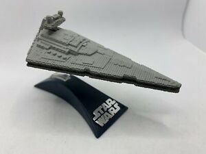 Star Wars Titanium Star Destroyer Die Cast With Display Stand LOOK