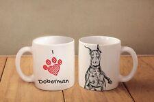 "Dobermann- ceramic cup, mug ""I love"", CA"