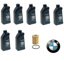 Genuine 7-Quarts Synthetic For BMW 5w30 Motor Oil &1 Oil Filter For BMW