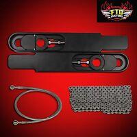 2000 Gsxr 750 Swingarm Extensions Kit 12 Stretch, Chain & 36 Brake Line