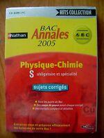 Logiciel Bac Annales 2005 Corrigés Physique Et Chimie Nathan /d29