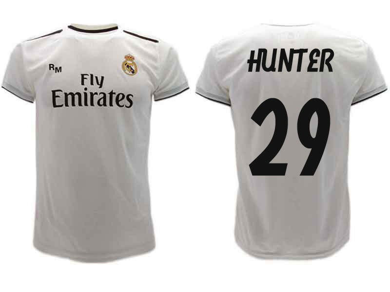 Shirt Real Madrid Hunter 2019 Offizielle Uniform 2018 Alex 29 Home Weiß