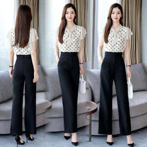 cheap for discount 3d7c4 e06e5 Dettagli su Tailleur donna completo elegante nero bianco pua maglia camicia  pantaloni 4882