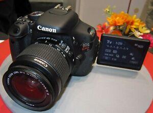 Canon-KISS-X-5-EOS-600D-18-0MP-Digital-SLR-Camera-w-EF-S-18-55mm-IS-II-Boxed