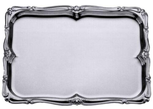 buffettablett de acero inoxidable 18//10 Bandeja barroca rectangular sin los pinzamientos