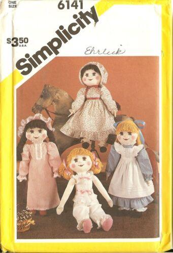 Vintage SIMPLICITY en peluche poupée de chiffon sewing pattern 6141 8967 W Armoire vous choisissez
