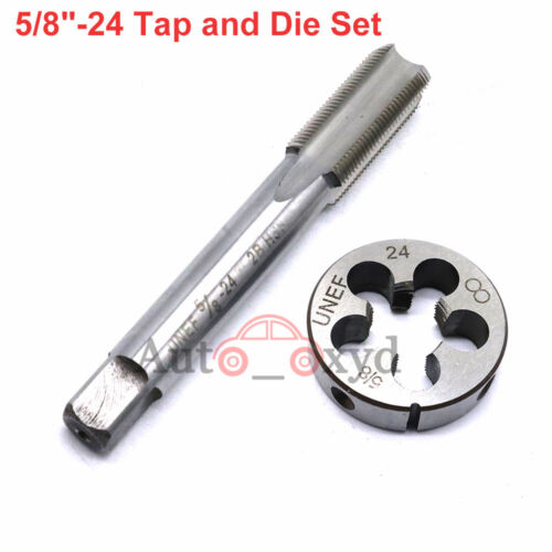 """New 5//8/""""-24 Tap and Die Set UNF HSS Right Hand Threading Gunsmithing 5//8/"""" x 24"""