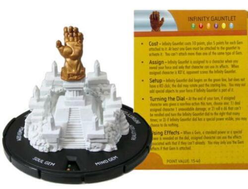 Marvel Heroclix The Infinity Gauntl  Infinity Gauntlet 3-D Object Limited  SW