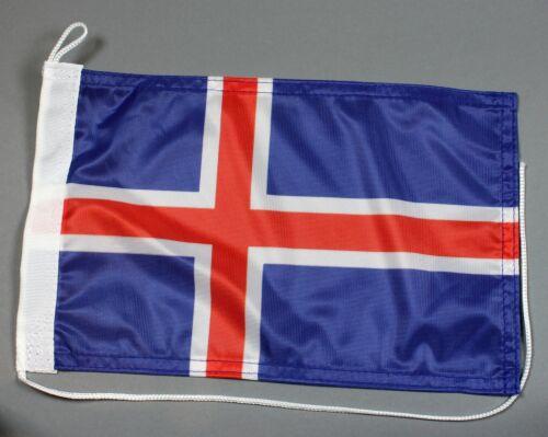 Bootsflagge Island 30x20 cm Motorradflagge