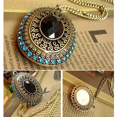 Hot Sale Crystal Vintage Resin Bead Necklace Dangle Charm Pendant Long Chain