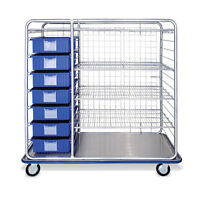 Divider Box Cart 60 Combo With Wire Shelves 66w X 26.5d X 66.5h 1 Ea on sale