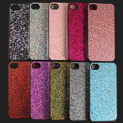 Fashion New Glitter Bling Back Case Cover Skin Protector For Apple Iphone 4 4S