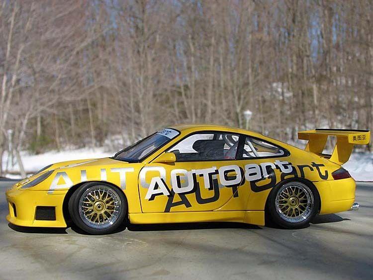 preferente PORSCHE 911 996 GT3R GT3R GT3R CUP 2000 AUTOART 80675 1 18 LIMITED EDITION amarillo amarillo  40% de descuento